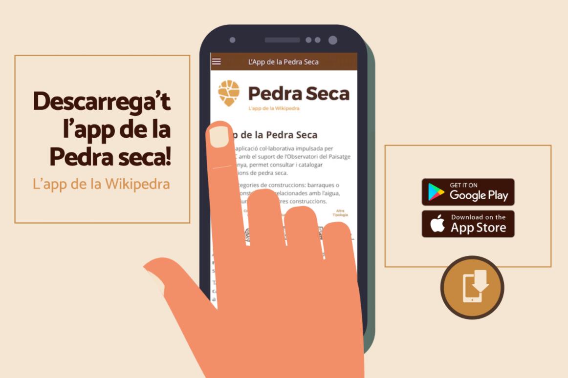 Video de l'App Pedra Seca, desenvolupat per COL·LABORAxPAISATGE
